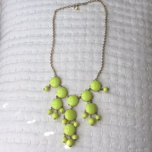 JCrew Yellow Bib necklace with gold chain